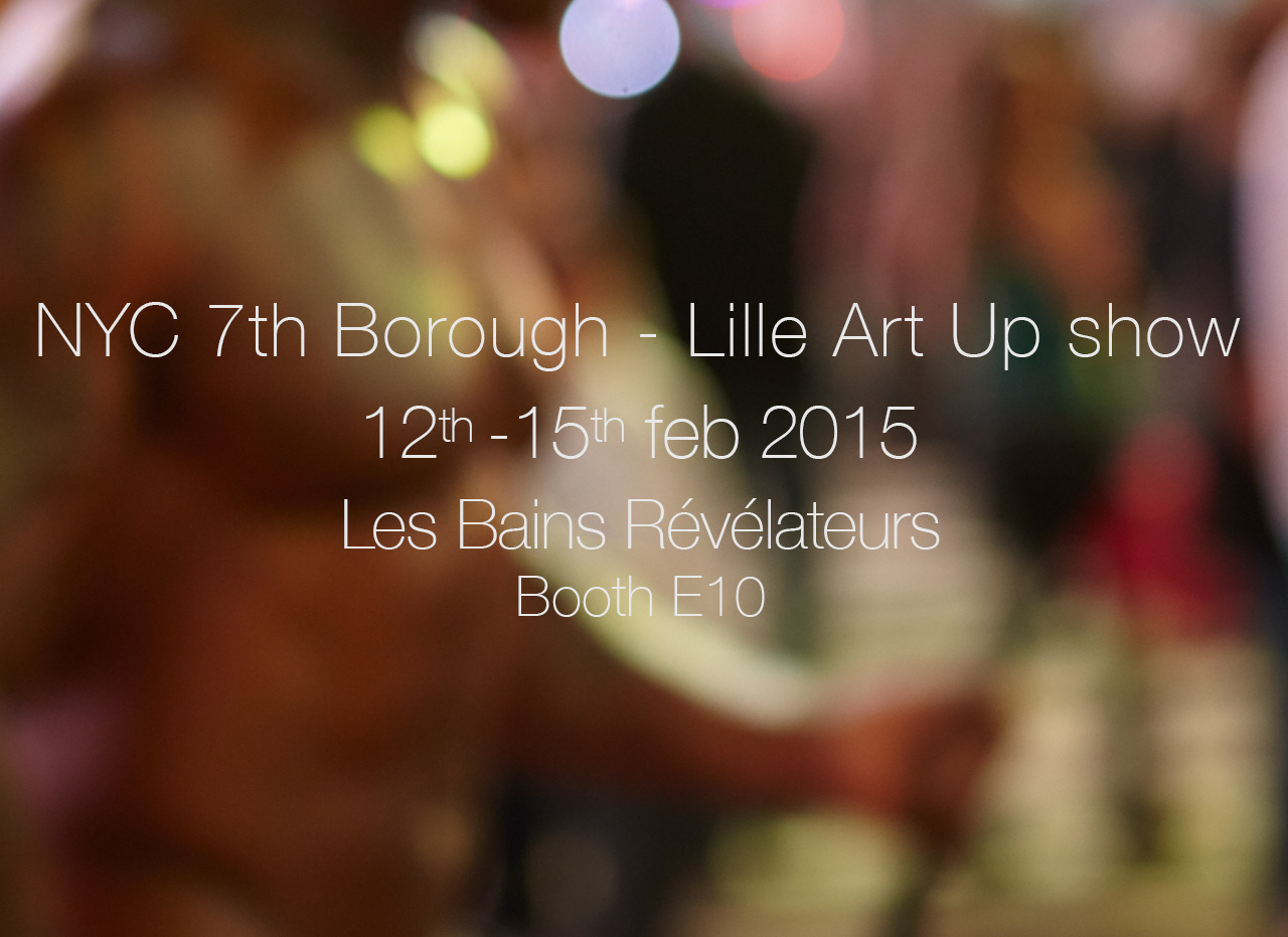 Christophe Glaudel at Lille Art Up show by Gallery Les Bains Révélateurs - Feb 2015